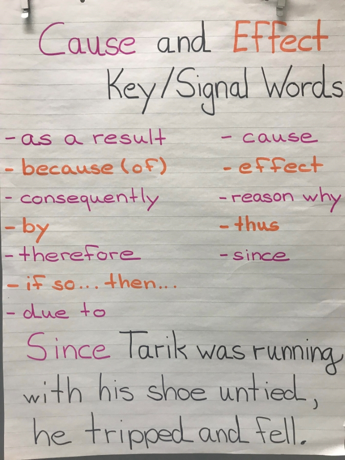 Cause & Effect Key Words